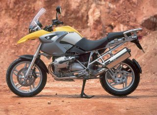 BMW R1200GS off road motorcycle